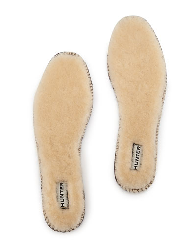 Luxury Shearling Fur Insole, Natural