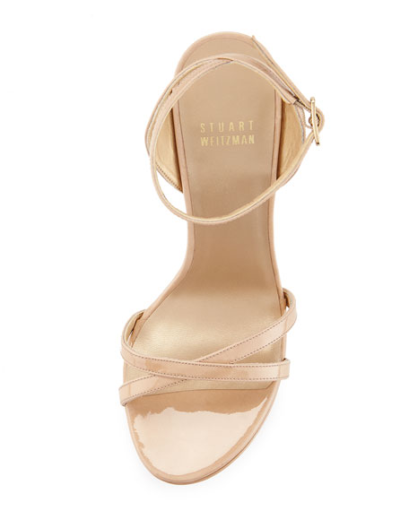 Bebare Patent Platform Sandal, Adobe
