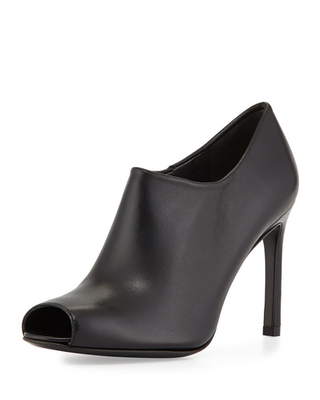 discount price Stuart Weitzman Leather Peep-Toe Booties lowest price cheap price buy cheap cost cheapest price online official site for sale VHrKuYrC3I