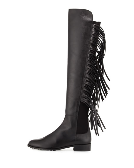 Stuart Weitzman Fringe Over-The-Knee Boots discount latest view sale online low shipping online s4zmZPi