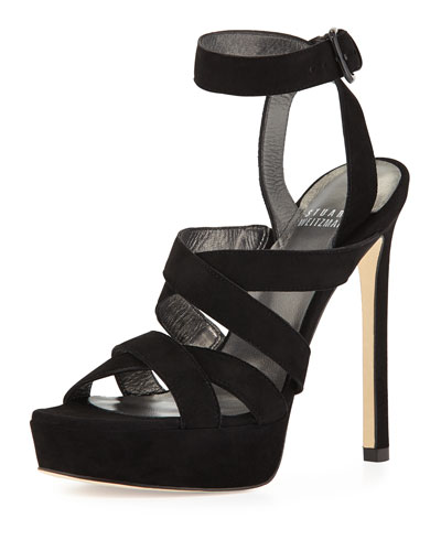 Soundtrack Strappy Platform Sandal, Black