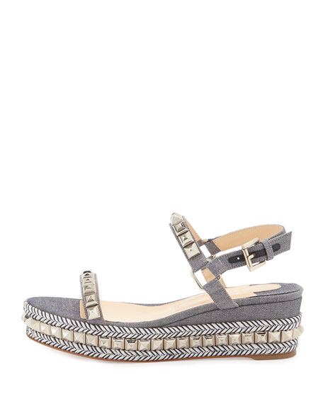 christian louboutin mens spiked shoes - christian louboutin women's studded cataclou platform espadrille ...