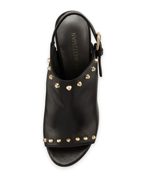 Commodore Studded Slingback Mule, Black