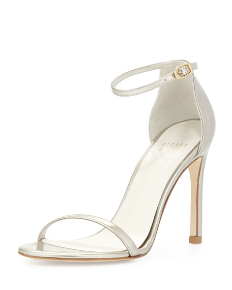 Nudistsong Patent Leather Sandal, Magnesium