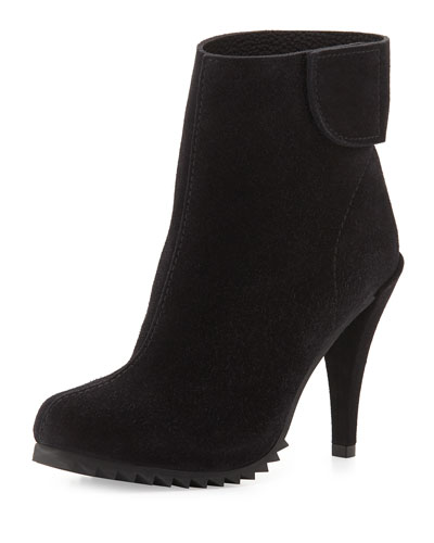 Yuka Suede Ankle Bootie, Black