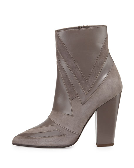Isola Geometric Patchwork Boot, Gray
