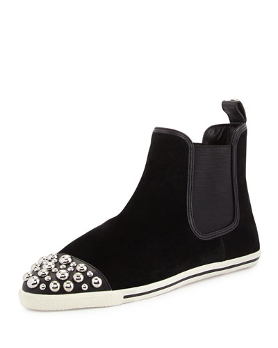Graham Studded Chelsea Boot, Black