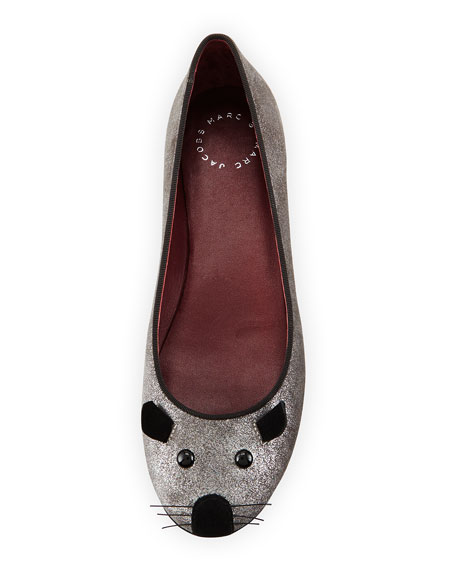 Rue Metallic Mouse Slipper, Silver