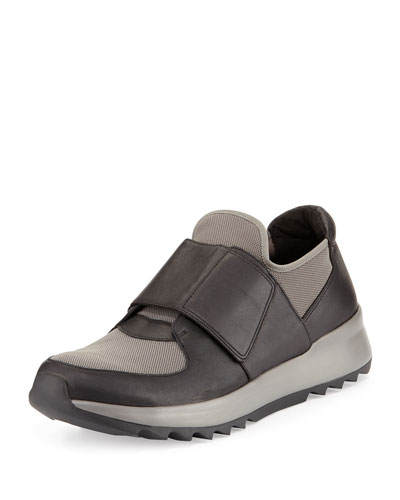 Wing Grip-Strap Mesh Sneaker, Black/Graphite