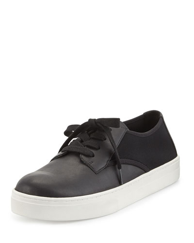Koi Leather Low-Top Sneaker, Black
