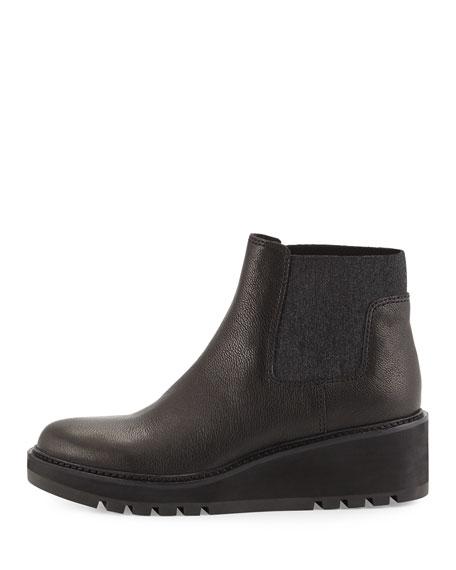 eileen fisher low wedge chelsea boot black