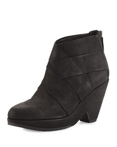 Dream Woven Ankle Bootie, Black
