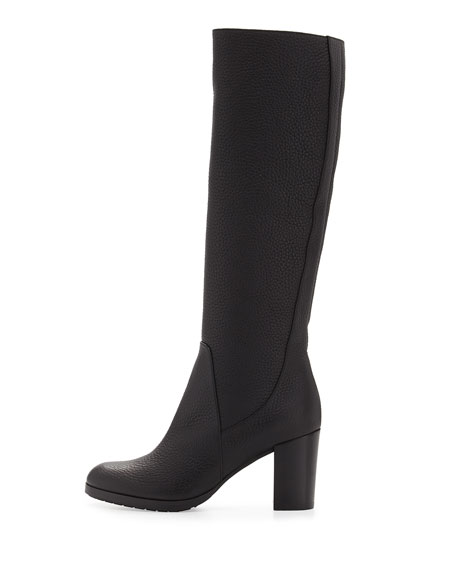 Edlyn Shearling-Lined Tall Boot, Black