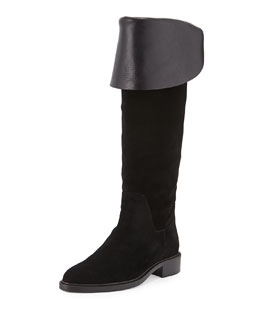 Garcelle Suede Over-The-Knee Boot