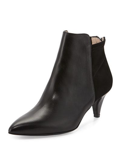 Samira Kitten-Heel Bootie, Black