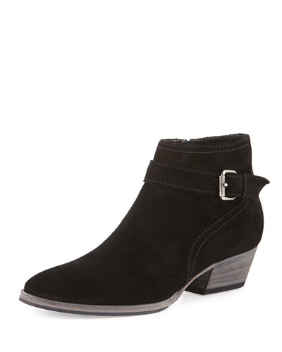 Fanny Suede Ankle Boot, Black