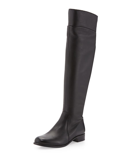 La Canadienne Soul Leather Over-the-Knee Boot, Black
