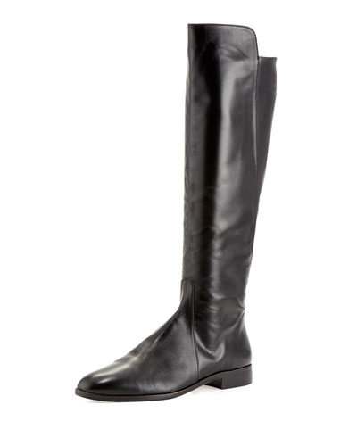 Buena Tall Leather Boot, Black