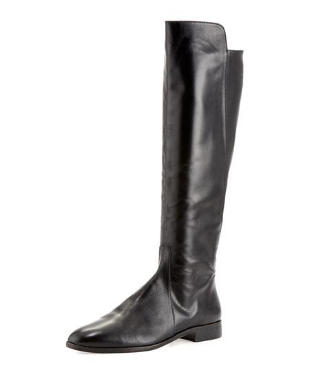 Delman Buena Tall Leather Boot, Black