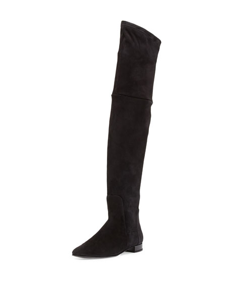 Delman Evoke Suede Over-the-Knee Boot, Black