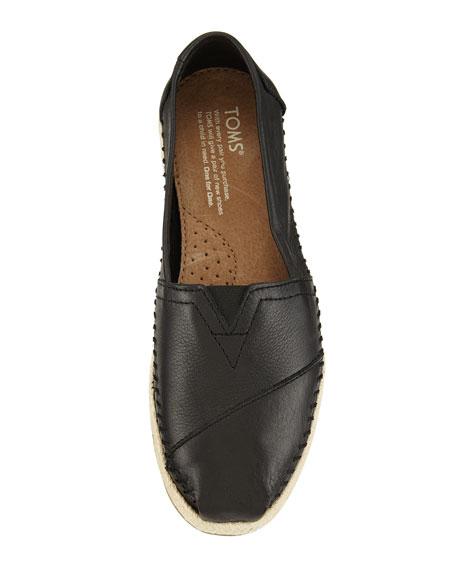 TOMS Alpargata Leather Slip-On, Black