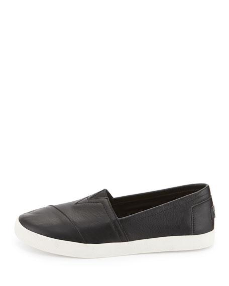 Avalon Leather Slip-On Sneaker, Black