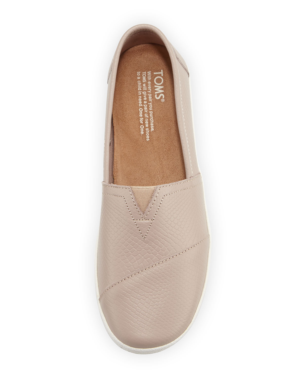 TOMS Avalon Embossed Leather Slip-On