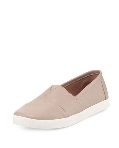 Avalon Embossed Leather Slip-On, Natural/Stucco