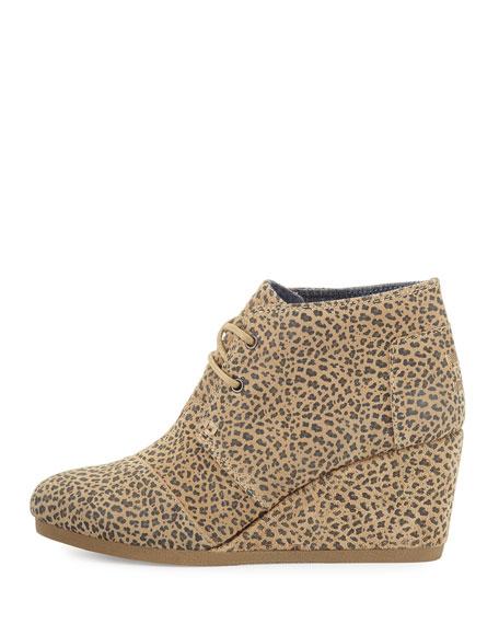 Suede Desert Wedge Bootie, Cheetah