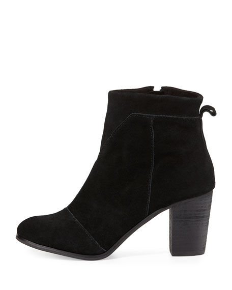 Image 2 of 3: Lunata Suede Ankle Boot, Black