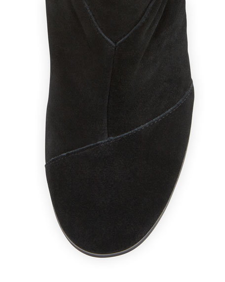 Image 3 of 3: Lunata Suede Ankle Boot, Black