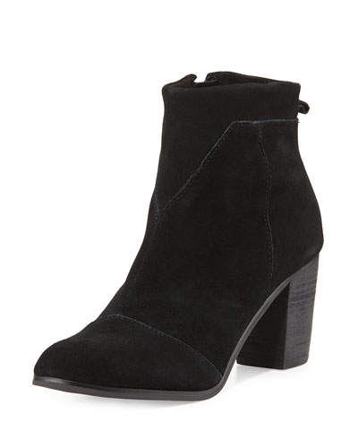 Lunata Suede Ankle Boot, Black