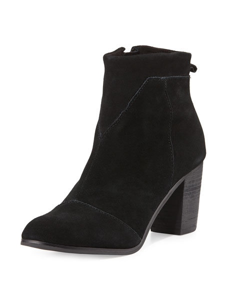 TOMS Lunata Suede Ankle Boot, Black