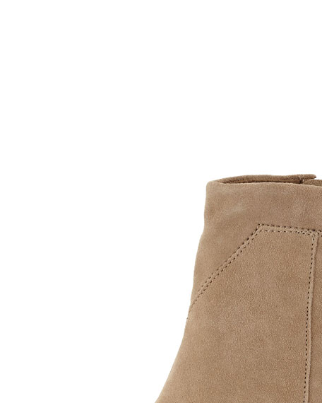 Lunata Suede Ankle Boot, Taupe