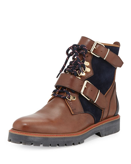 Utterback Lace-Up Leather Hiking Boot, Dark Umber Brown