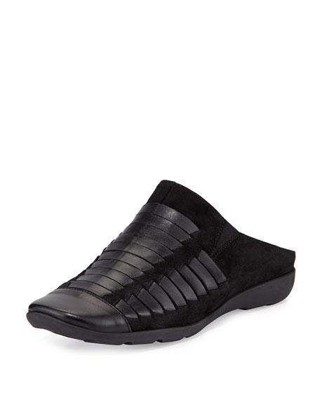 Sesto Meucci Gordana Woven Leather Mule, Black