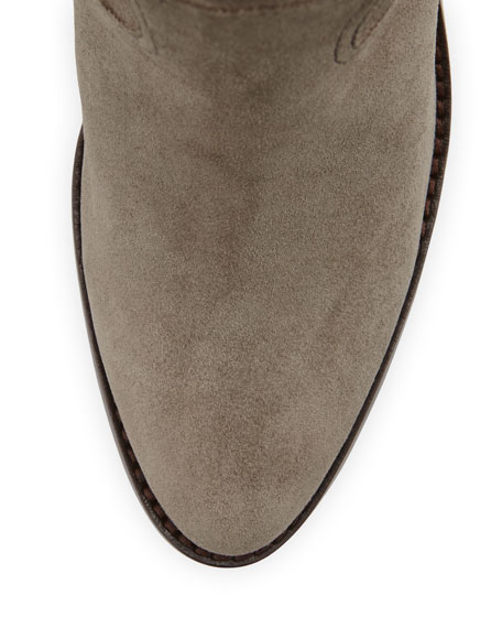 Ivana Suede Ankle Bootie, Stone