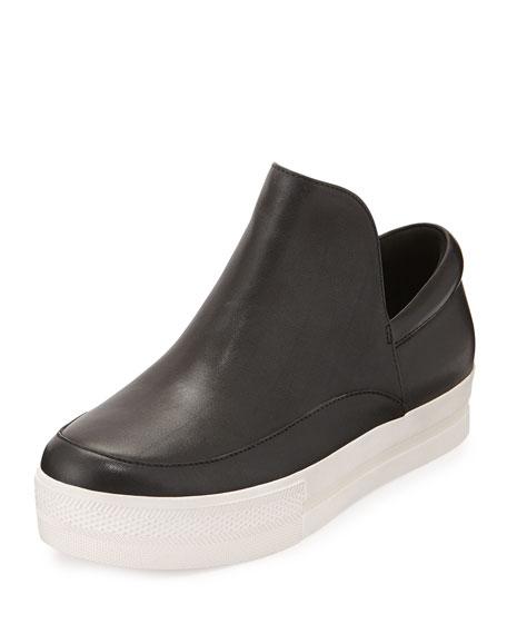 Ash Jack Leather Slip-On Sneaker, Black