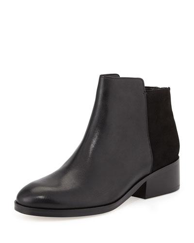 Elion Leather Ankle Bootie, Black