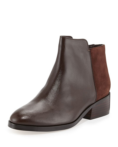 Elion Suede & Leather Bootie, Chestnut