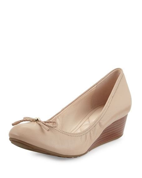 Cole Haan Tali Leather Wedge Pump, Maple Sugar