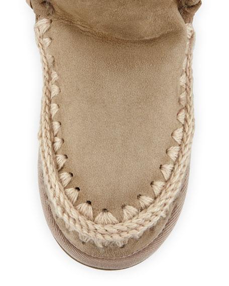 Eskimo Fringe Suede Boot, Light Tan