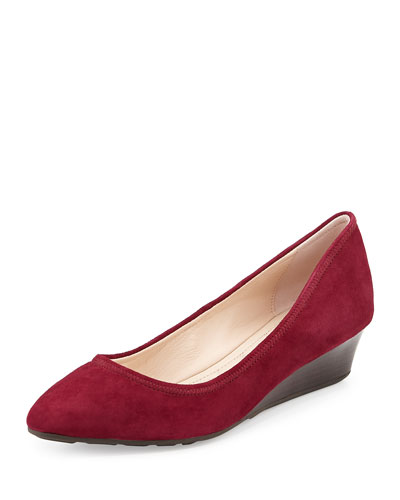 Tali Luxe Wedge Pump, Cabernet