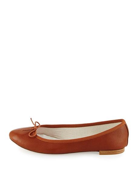 Repetto Cendrillon Leather Ballet Flat, Cognac