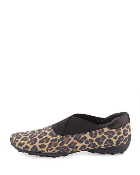 Udaya Waterproof Leopard-Print Slip-On, Camel
