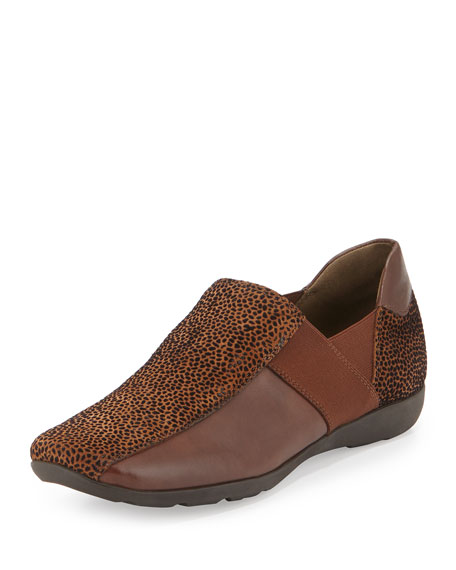 Sesto Meucci Geneva Embossed Leather Slip-On, Cognac
