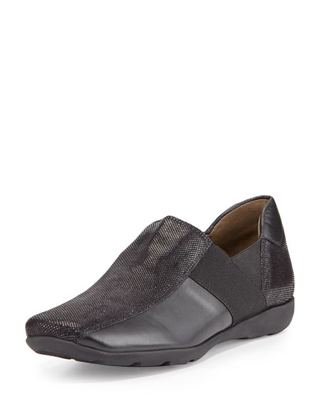 Sesto Meucci Geneva Leather Slip-On Sneaker, Black