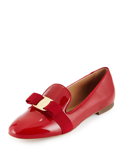 Scotty Patent Bow Loafer, Red (Rosso)