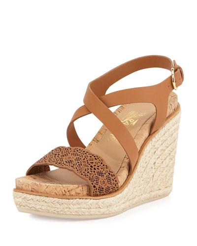 Gioela Espadrille Wedge Sandal, Palissandro