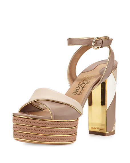 buy cheap low price fee shipping prices sale online Salvatore Ferragamo Platform Sandal aT6R4zelYO